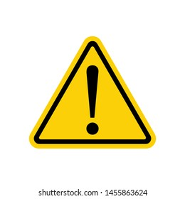 Hazard warning attention sign - stock vector, Warning, stop sign icon with exclamation mark - for stock.