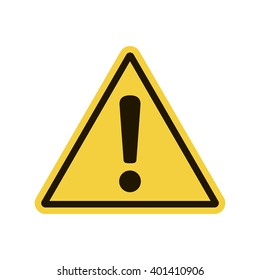 Hazard warning attention sign. Vector illustration, EPS10.