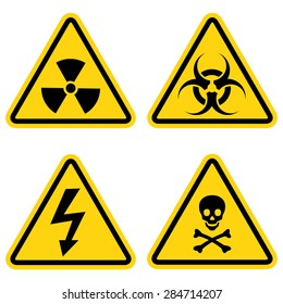Hazard warning icon set