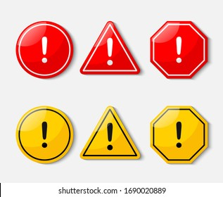 hazard warning sign isolated on white background. illustration vector.