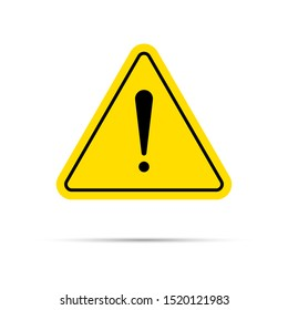 Hazard warning symbol. Vector warning icon, danger sign, problem icon isolated on white background for web, printing, app and interface.