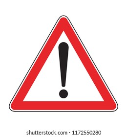hazard! warning traffic sign