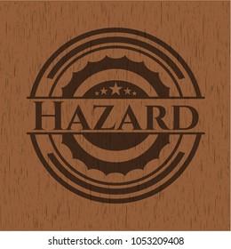 Hazard wooden emblem