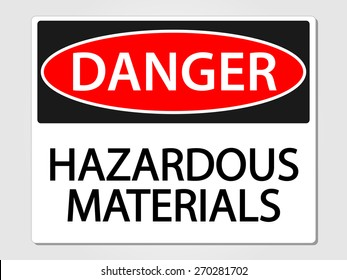 Hazardous materials vector sign