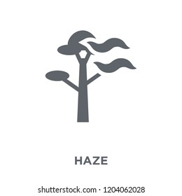 Haze icon. Haze design concept from Weather collection. Simple element vector illustration on white background.