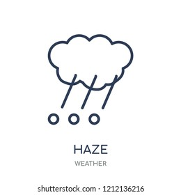 Haze icon. Haze linear symbol design from Weather collection. Simple outline element vector illustration on white background.