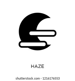 Haze icon. Haze symbol design from Weather collection. Simple element vector illustration on white background.