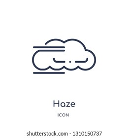 haze icon from weather outline collection. Thin line haze icon isolated on white background.