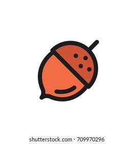 Hazelnut. Vector icon