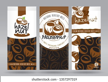 Hazelnuts packaging set