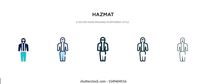 hazmat icon in different style vector illustration. two colored and black hazmat vector icons designed in filled, outline, line and stroke style can be used for web, mobile, ui