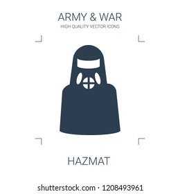 hazmat icon. high quality filled hazmat icon on white background. from war collection flat trendy vector hazmat symbol. use for web and mobile