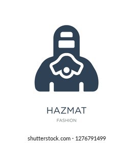hazmat icon vector on white background, hazmat trendy filled icons from Fashion collection, hazmat vector illustration