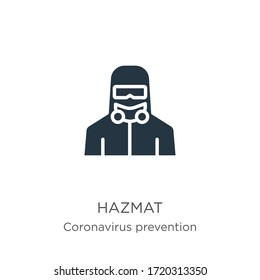 Hazmat icon vector. Trendy flat hazmat icon from Coronavirus Prevention collection isolated on white background. Vector illustration can be used for web and mobile graphic design, logo, eps10