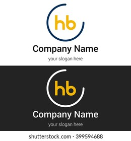 HB business logo icon design template elements. Vector color sign.