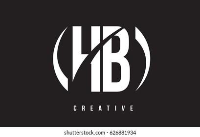 HB H B White Letter Logo Design with White Background Vector Illustration Template.