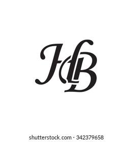 HB initial monogram logo