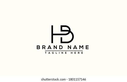 HB Logo Design Template Vector Graphic Branding Element.