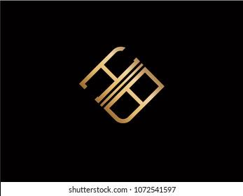 HB square shape Letter logo Design