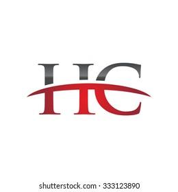 HC initial company red swoosh logo