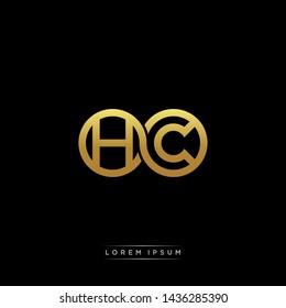 HC initial letter linked circle capital monogram logo modern template