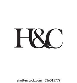H&C Initial logo. Ampersand monogram logo