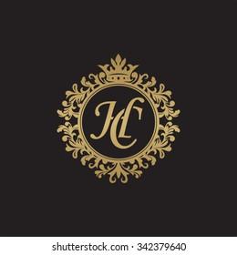 HC initial luxury ornament monogram logo