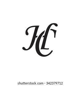 HC initial monogram logo
