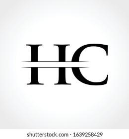 HC Logo Design Vector Template. Initial Linked Letter HC Vector Illustration