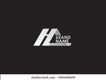 HC modern simple logo black and white creative logo