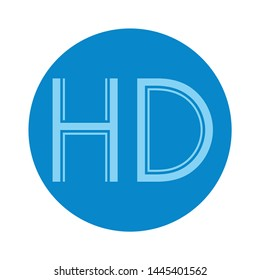 HD  icon. Logo element illustration. HD  design. colored collection. HD  concept. Can be used in web and mobile