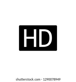 HD icon,HD icon vector, in trendy flat style isolated on white background.HD icon image,HD icon illustration