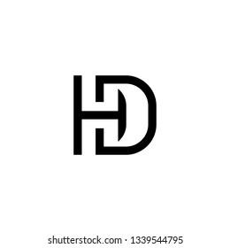 HD letter logo