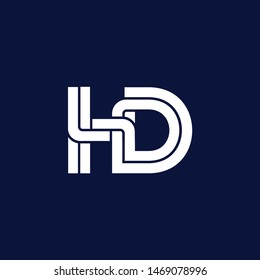 HD letter logo and icon design