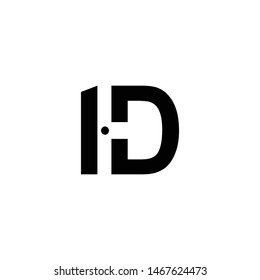 hd  letter logo vector ilustration