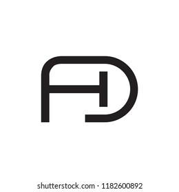 HD logo letter design