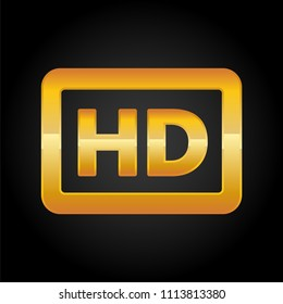 HD resolution golden icon for web and mobile