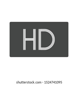 HD Screen icon isolated on white background. HD TV symbol modern, simple, vector, icon for website design, mobile app, ui. Vector Illustration