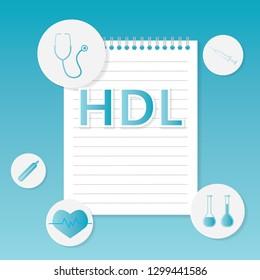 HDL (High-density lipoprotein) medical concept- vector illustration