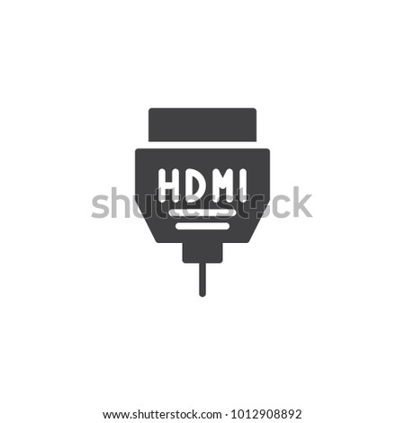 Hdmi Cable Icon Vector Filled Flat Stock Vector Royalty Free
