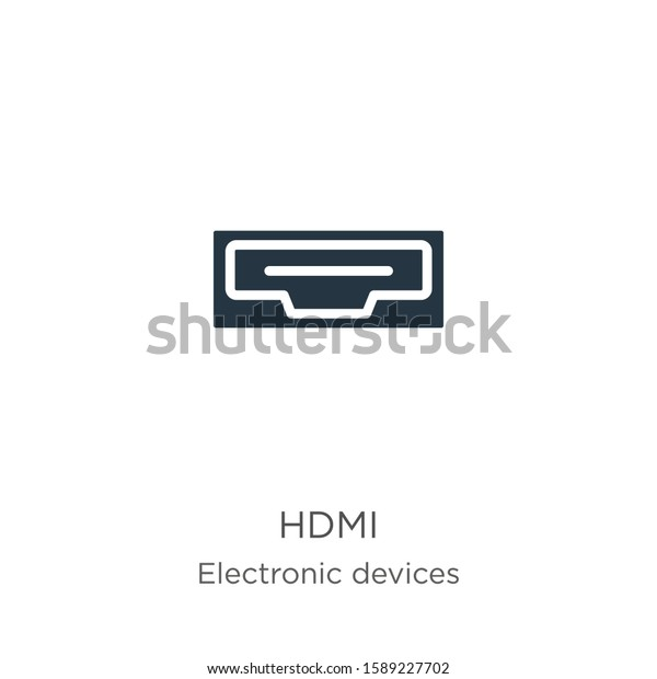 hdmi icon vector trendy flat hdmi stock vector royalty free 1589227702 shutterstock