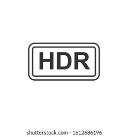 Hdr icon. Thin linear hdr outline icon isolated on white background from shapes collection. Line vector sign, symbol for web and mobile
