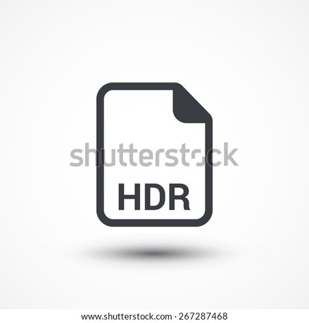 hdr image file extension icon stock vector royalty free 267287468 rh shutterstock com file extension hds file extension hdf