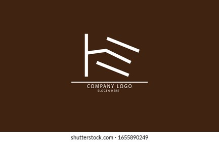 HE EH abstract vector logo monogram template