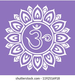 he seventh chakra of man. Mandala for meditation and yoga. The meaning of the symbol in Sanskrit is the lotus flower with a thousand petals.