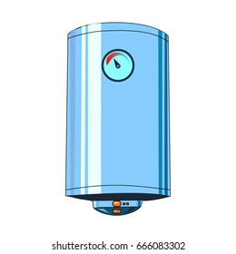 he vector illustration  of the boiler to create an internet shop icon or a book about home electric appliances or a store of electrical goods