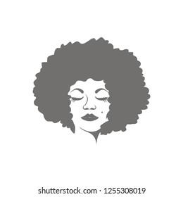 head of afro women vector