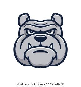 Head angry bulldog mascot