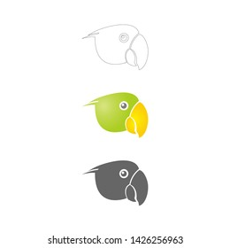 Head Bird vector icon logo caracter