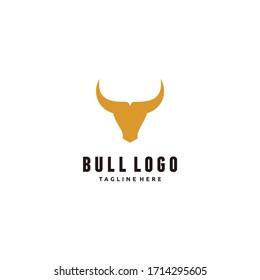 Head Buffalo Bull Elegant Logo Symbol Design Illustration Vector for Company
